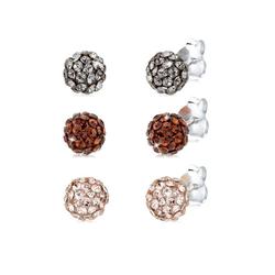 Elli Ohrring-Set Basic Set Kugel Kristalle 925 Silber