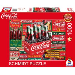 Schmidt Spiele Puzzle Klassiker, Puzzle Coca Cola, 1000 Puzzleteile, Made in Europe bunt