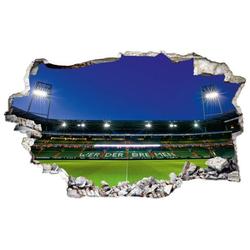 Wall-Art Wandtattoo SVW Weserstadion Tribüne (1 Stück) 80 cm x 49 cm x 0,1 cm