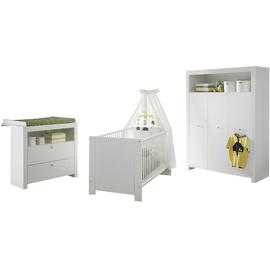 trendteam Babyzimmer Olivia 3-tlg. weiß