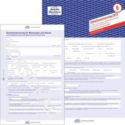 Einheitsmietvertrag m. Übergabeprotokoll A4