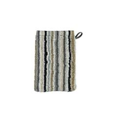 Cawö Waschhandschuh Lifestyle Streifen in kiesel, 16 x 22 cm