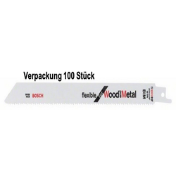 BOSCH Sägeblatt Bosch Säbelsägeblätter Flexible for Wood and Metal (100-St)