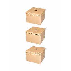 Nils Holger Moormann Archivbox für FNP Regal – mittel beige, Designer Nils Holger Moormann, 21.6x32.5x34 cm