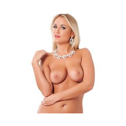 Rimba Strass-Collier mit Ohrringen, 2 Teile