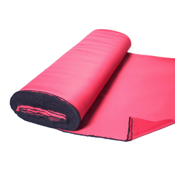Vorhang nach Maß BLACKY, Home Basics, (1 Stück), Verdunklungsstoff zum selber Nähen! rot