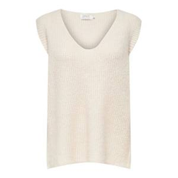 ONLY Strick Weste Damen Beige Female L