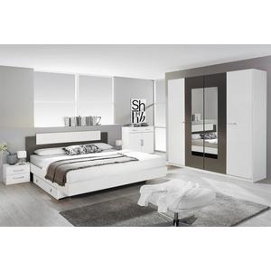 Rauch Schlafzimmer Borba Schlafzimmer-Set alpinweiß / grau-metallic mehrteilig