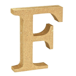 """VBS Buchstaben """"MDF"""" 8 cm x 1,5 cm bunt Buchstabe """"F"""""""