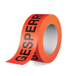 Warnband - Klebeband - Gesperrt, 66m Rolle, 50mm breit
