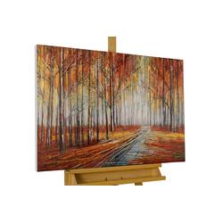 KUNSTLOFT Gemälde Sehnsucht nach Herbst, handgemaltes Bild auf Leinwand