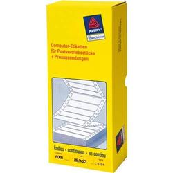 Universal-Etiketten 88,9x23 mm 6000 Etiketten weiß