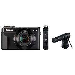 Canon PowerShot G7 X Mark II schwarz + HG-100TBR + DM-E100