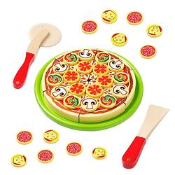 Schneidepizza mit Pizzaroller, Heber und Pizzakarton bunt