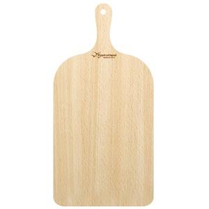 Langer Pizzaschieber aus Holz, Serviertablett und Schneidebrett, 23 x 38 cm