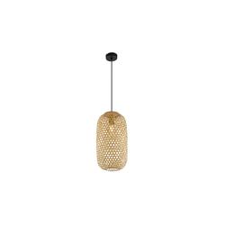 Globo Lighting Pendelleuchte Mirena mit Bambusschirm, 22 cm
