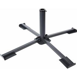 Meinposten Schirmständer Plattenständer Sonnenschirm Metall grau Ständer für 40x40 Platten (1 Stück), Passend für Schirmrohr-Ø: 35 bis 48 mm