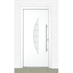Roro Aluminium-Haustür Malta BxH: 110 x 210 cm, weiß weiß