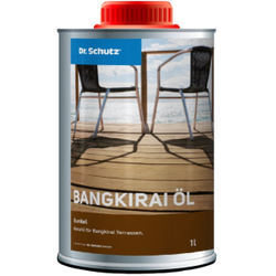 Dr. Schutz®  Terrassenöl Bangkirai, Dunkel, Naturöl für Bangkirai Terrassen, 1 Liter - Flasche