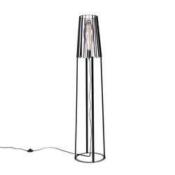 Moderne Stehlampe schwarz - Wieza