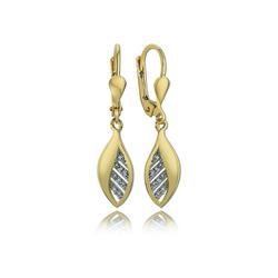 Balia Paar Ohrhänger BGO0018GW Balia Ohrhänger für Damen 8K Gold (Ohrhänger), Damen Ohrhänger Blatt aus 333 Gelbgold - 8 Karat
