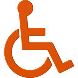 Hewi 801 Symbol Rollstuhl 801.91.03024 orange, selbstklebend