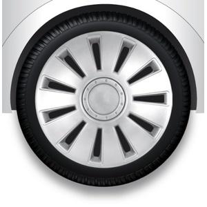 ZentimeX Z732366 Radkappen Radzierblenden universal 17 Zoll silver