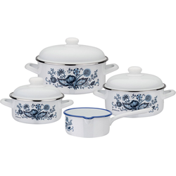 GSW Topf-Set Zwiebelmuster, Emaille, (Set, 7-tlg), Induktion