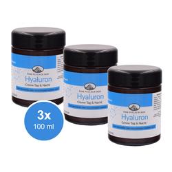 3x 100ml Hyaluron Creme Anti Aging Feuchtigkeitscreme trockene Haut Pullach Hof