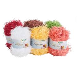 Gründl Wolle-Set Fancy Amigurumi Furry Edition Häkelwolle, 6er-Set