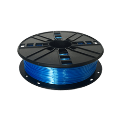 WhiteBOX 3D-Filament Seiden-PLA blau mit Perlglanz 1.75mm 500g Spule