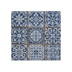 Casa Moro Fliesenaufkleber Marokkanische Fliesen Rahel Blau Patchwork 33x33 cm, Retrofliesen Keramikfliesen als Wandfliesen & Bodenfliesen, FL2112