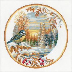 """Stickbild """"Kohlmeise"""", 30 x 30 cm"""