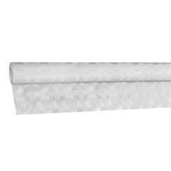 Damasttischdecke Tischtuch aus Papier, gerollt 1,20m x 50m, weiß