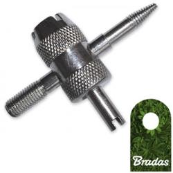 Ventileinsatzschlüssel Schlüssel für Ventileinsatz Kart PKW Felge Reifen Reifenfüllgerät BRADAS 9785