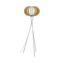 Licht-Trend Stehlampe Rift Ø 50cm mit Holzschirm