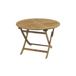 Zebra Poker Tisch Teak rund Ø 110 cm