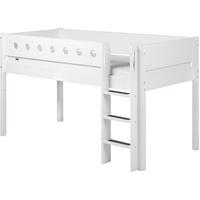 Flexa Halbhohes Bett mit gerader Leiter weiß