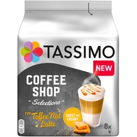 TASSIMO Coffee Shop Selections Toffee Nut Latte 5x8 St.