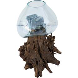 Guru-Shop Dekovase Wurzelholz Vase - XXL M4 50 cm x 60 cm x 40 cm