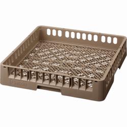 Bartscher Besteckkorb, braun, Stapelbarer Spülmaschinenkorb aus Kunststoff für Besteck, Maße: 500 x 500 x 100 mm