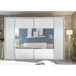 Schwebetürenschrank Mega mit Dreh- und Schwebetüren weiß 312 cm x 226 cm x 60,3 cm