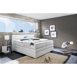 INOSIGN Boxspringbett Airdrie, mit Bettkasten und Topper weiß 180 cm x 210 cm