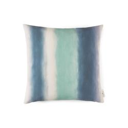 TOM TAILOR Unisex Kissenhülle mit Batik-Streifen, blau, Gr.45/45