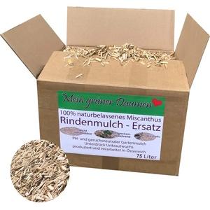 Mein grüner Daumen Rindenmulch-Ersatz für den Garten aus gehäckselten Miscanthus, Elefantengras, Chinagras Häcksel ph-neutral und Unkraut bekämpfend (Medium)