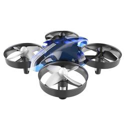DTC GmbH RC-Drohne (2-tlg), RC Quadrocopter Mini Drohne Drone Helikopter, Höhehalten, Kopflos Modus, 3D Flips, EIN-Tasten-Rückkehr, 360° Rotierenden, 6-Achsen-Gyroskop, für Kinder und Anfänger (Blau)