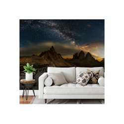 A.S. Création Fototapete, Vlies Foto Tapete Sternenhimmel Galaxy Dolomites DD118938 Berge