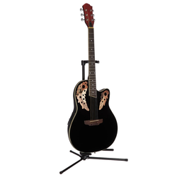 Akustikgitarre Roundbackgitarre 4/4 mit Equalizer 4/4 schwarz