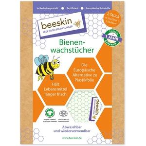 beeskin Bienenwachstuch 2er Set zum Frischhalten & Aufbewahren von Lebensmitteln – Größe: M, 25x25 cm & L, 35x35 cm, 2 Stück (Standard)