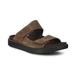 ECCO Flowt Sandale, Herren, Größe: 44 Normal, Braun, Rauleder, by Lands' End, Kakao - 44 - Kakao